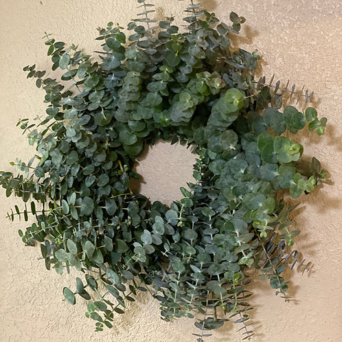 "Small Fresh Eucalyptus wreath 15"""