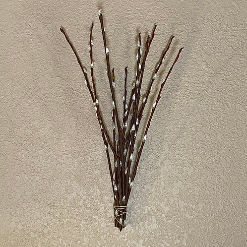Small pussy willow peeled bunch