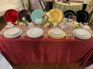 We have a huge dinnerware selection!