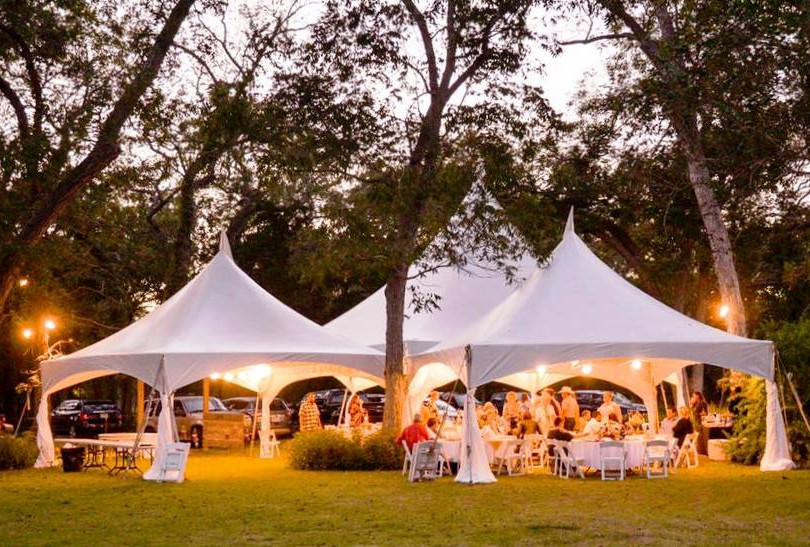 34' Hex & 2-20x20 Marquee Tents