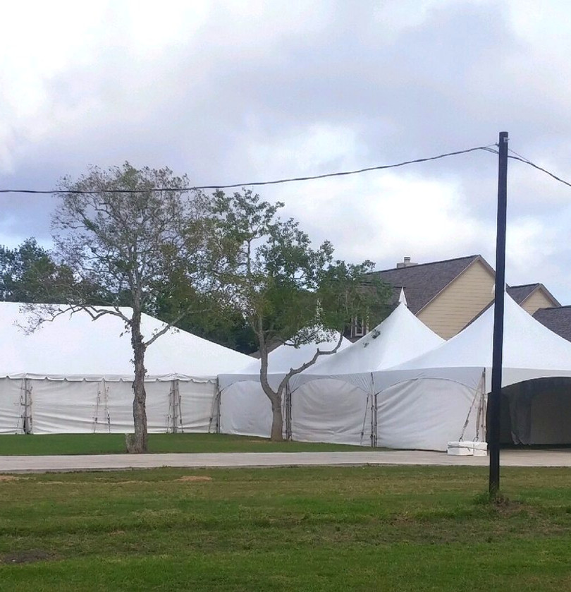 40X90 Frame Tent W/6-20x20 Marquee