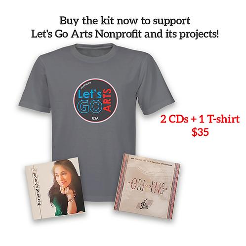 Kit 2 CDs + 1 T-Shirt Lets Go Arts