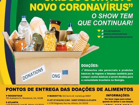 """Campanha """"Todos contra o Corona Virus - O show tem que continuar!"""""""