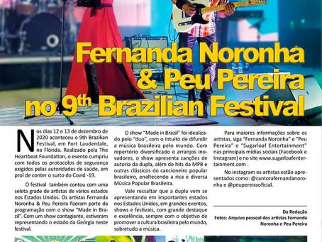 Confiram a matéria sobre a participação dos artistas Fernanda Noronha & Peu Pereira no 9th Brazilian
