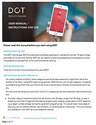 Dot Fertility App Manual_Instructions fo