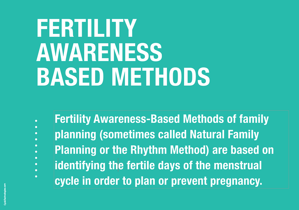 What are fertility awareness based methods or the Rhythm Method