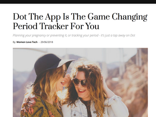 """Why Dot is called a """"Game Changing Period Tracker"""""""