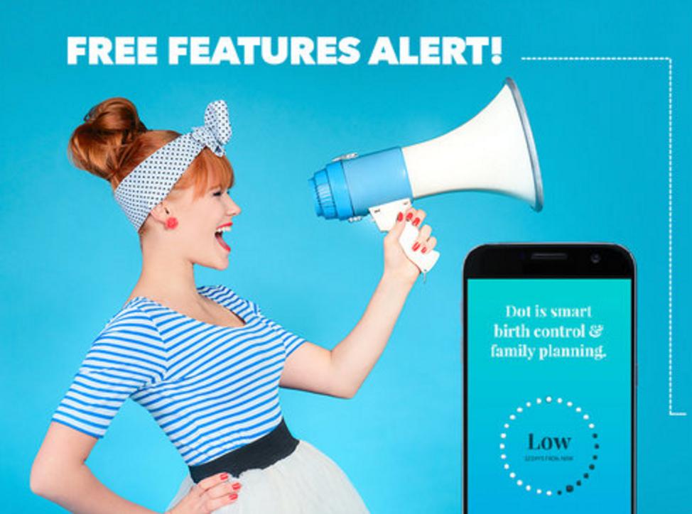 Dot Fertility & Period Tracker Free Features Alert