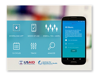 Dot Period and Fertility Tracker App Study is being conducted by outside researchers with support from the U.S. Agency for International Development (USAID)
