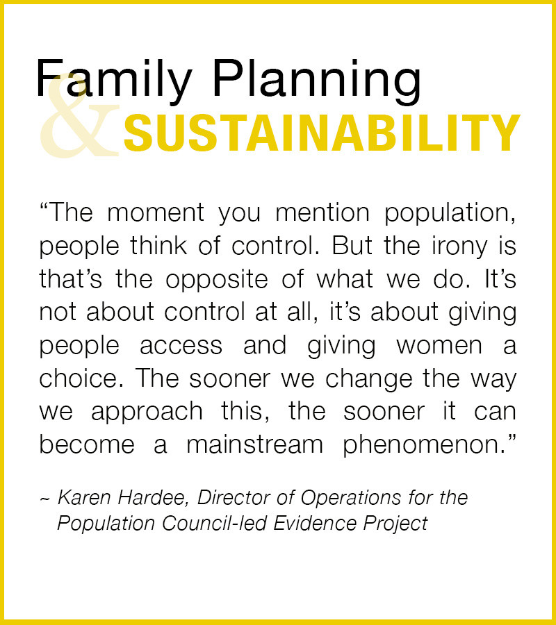 Family Planning and Sustainability