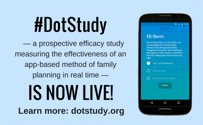 Cycle Technologies Dot Fertility & Period Tracker App in 1st ever prospective study measuring contraceptive app effectiveness
