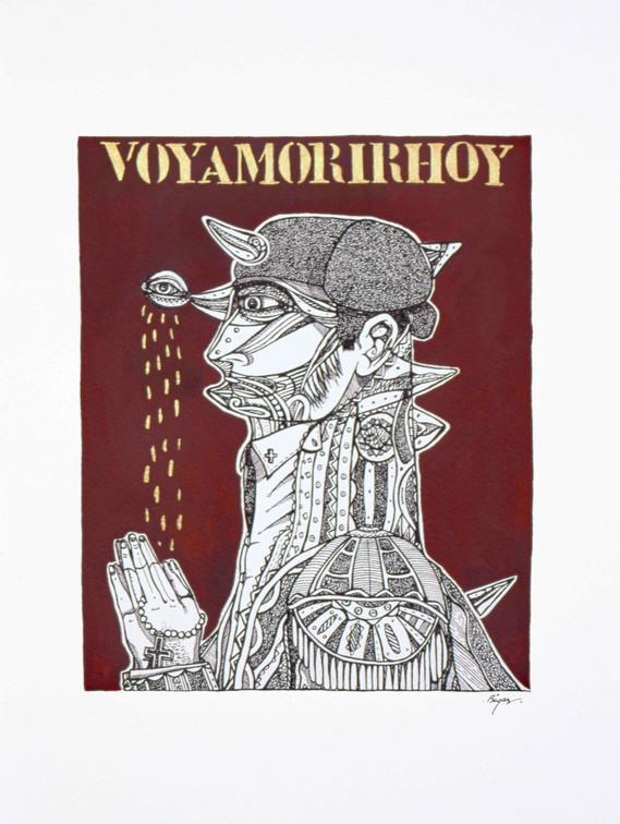 Voyamorirhoy 1997 40x30cm. Oil and Ink on paper