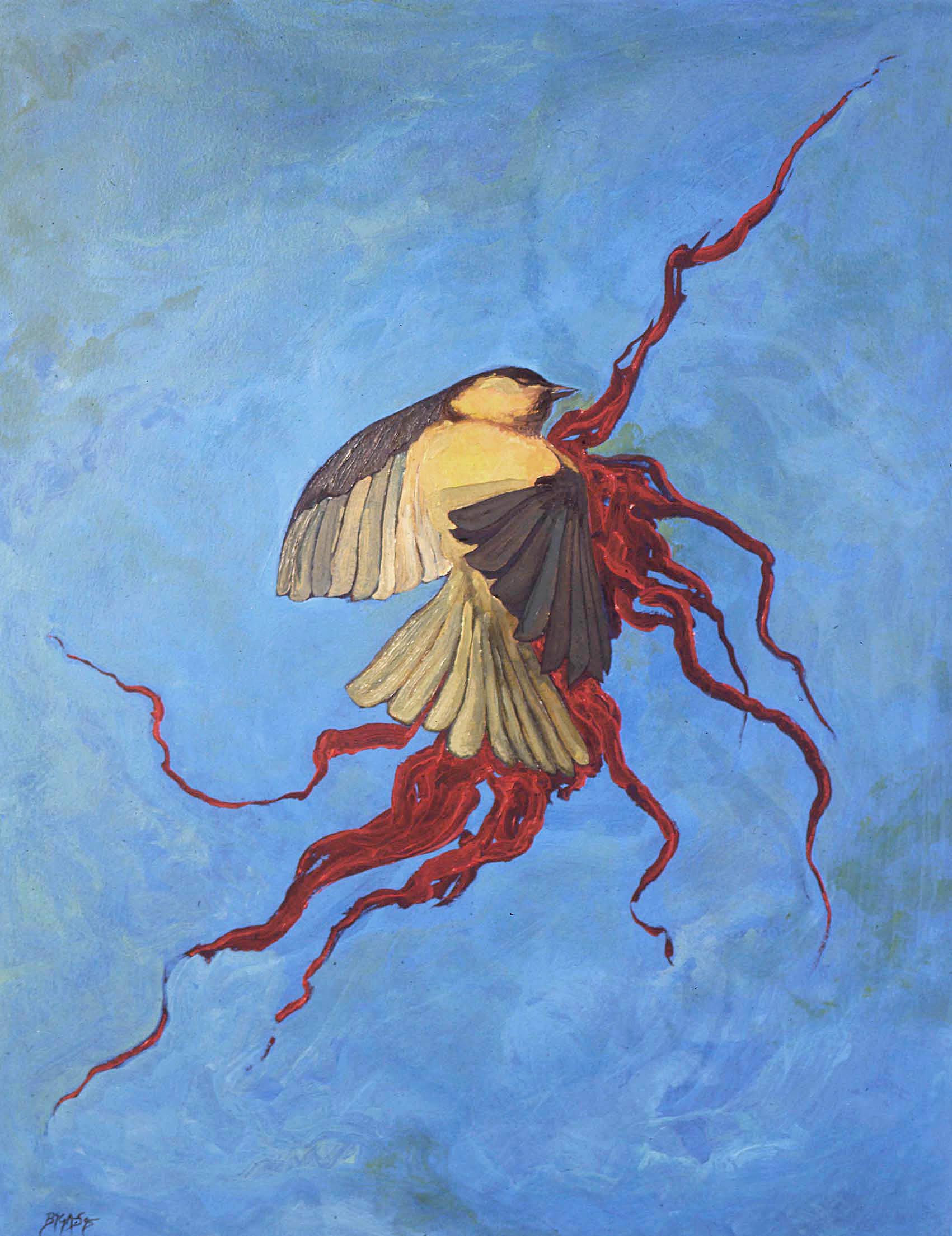 Untitled 1995 75x56cm. Oil on paper