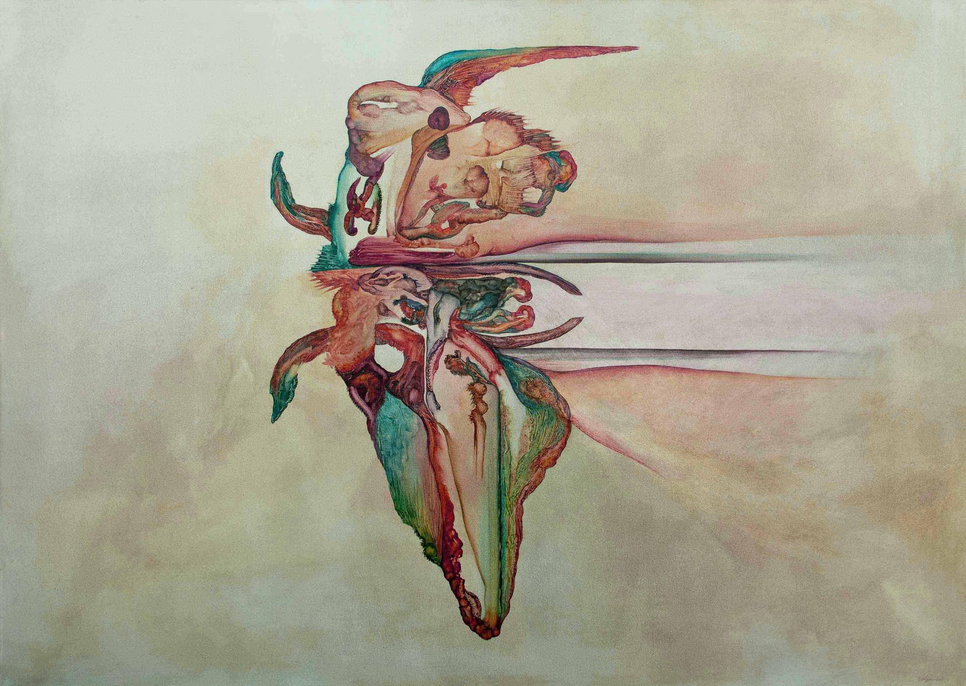 Genius Loci 2015 140cmx100cm. Oil on canvas