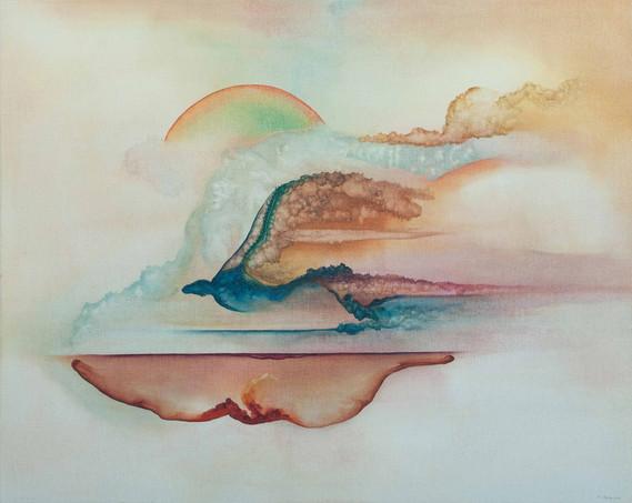 Inferno Purgatorio e Paradiso 2016 100x80cm Oil on canvas