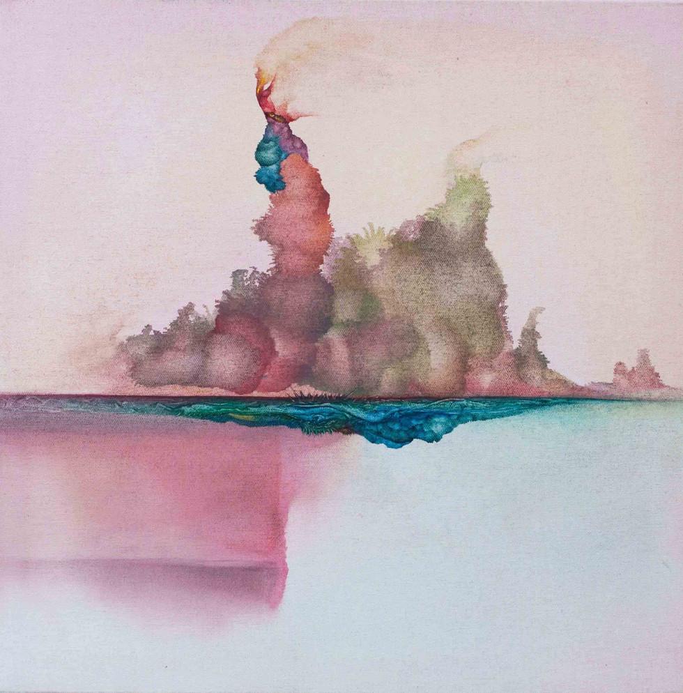 Asylum 2015 60x60cm Oil on canvas