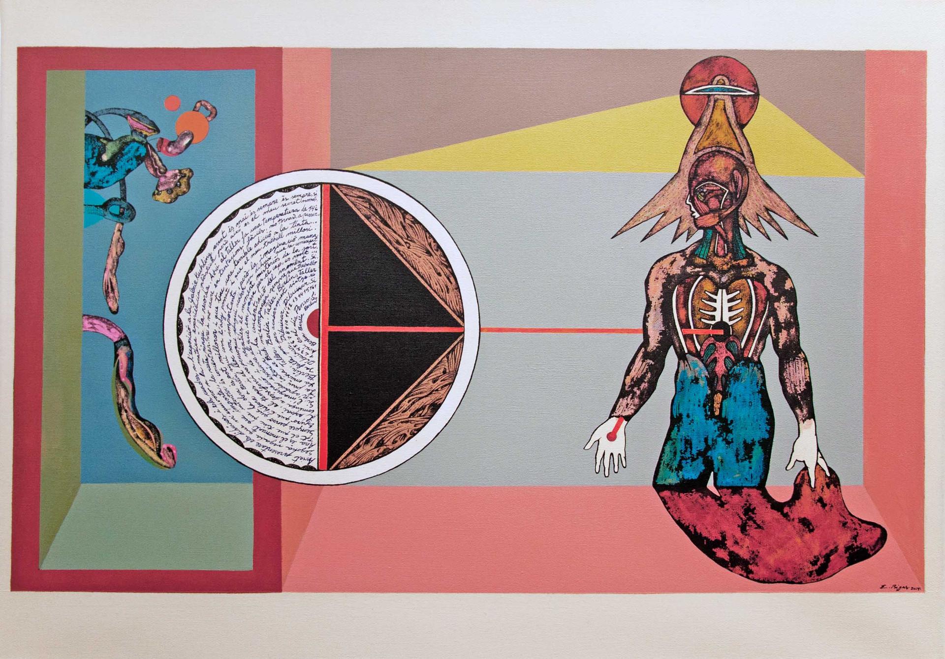 Der Geist der Orte 2014 70x50cm. Acrylic and Ink on canvas