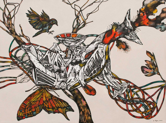 Naturaleza muerta 61x46cm 2011. Acrylic and Ink on canvas