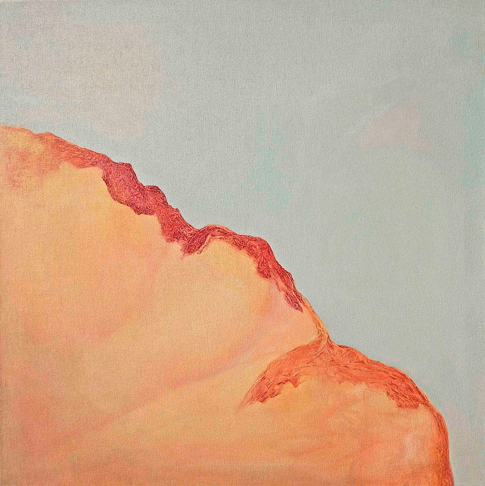 The talking mountain  2015 60x60cm Oil on canvas