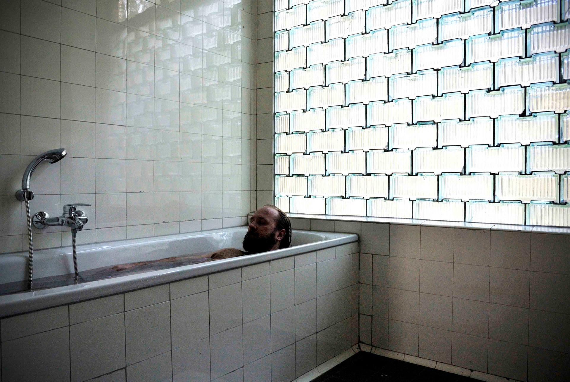 Selfportrait at Bauhaus Denkmal Bernau 2014