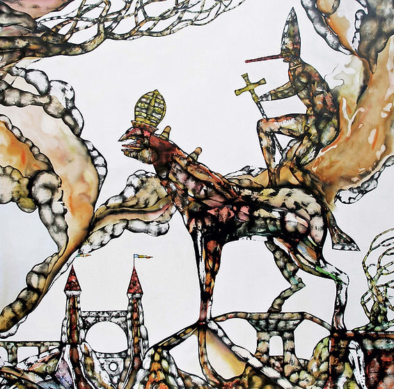 The death of Pinocchio 2007 120x120cm Ac