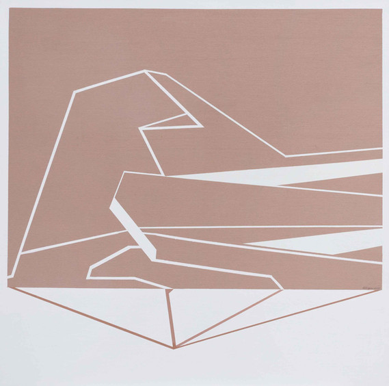 Estructura n°1 2018 80x80cm Oil on canvas