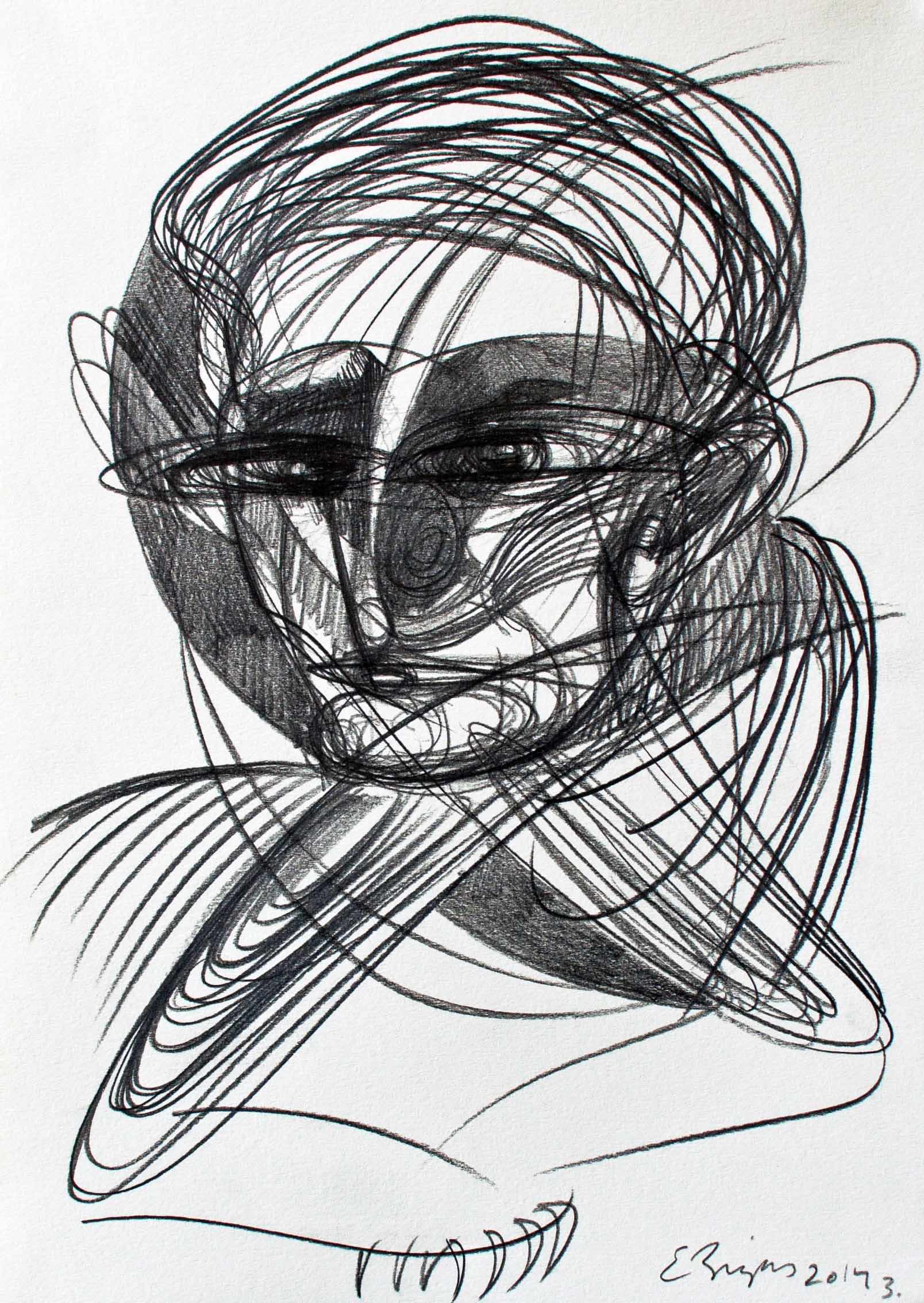 Personatge 2014 21x30cm.  Graphite pencil on paper