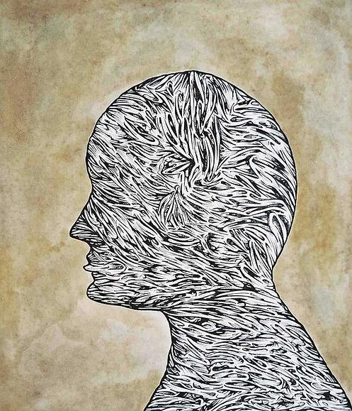 Selfportrait 2002 38.5x28.5cm Watercolou