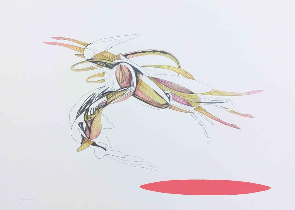 Diablo 2018 70x50cm  Graphite pencil, watercolour and acrylic on paper