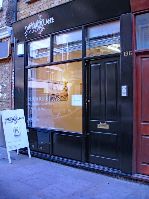 Suspended calamities.The Brick Lane Gallery London 2007