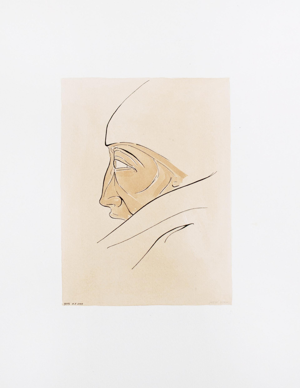 N.Y Man 2000 35'5x51cm. Tea and Ink on paper