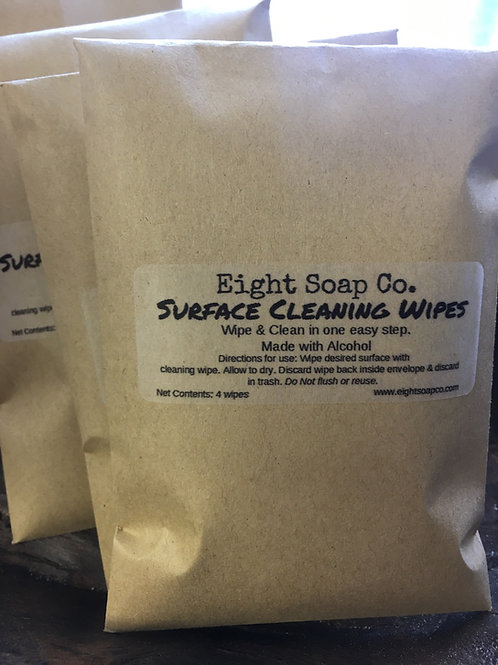 Travel Surface Cleaning Wipes