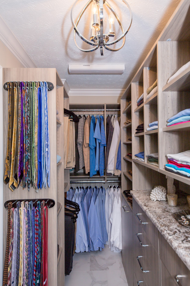 Campania Elme finish in a primary closet from Closets by McKenry