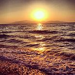 Pamucak beach, sandy beaches and palm trees, safe swimming, turquoise sea, Agean coast, Izmir Province, Turkey