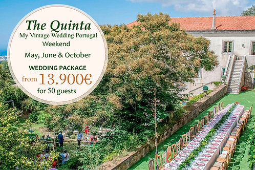 The Quinta Vintage Wedding Package - May, June &October (Weekends)
