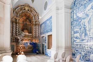 Capela original da Quinta do Torneiro com azulejos portugueses