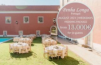 Penha Longa Wedding Package  August 2021 - 2022