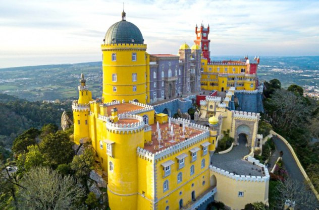 Pena Palace Wedding venue in Lisbon Portugal