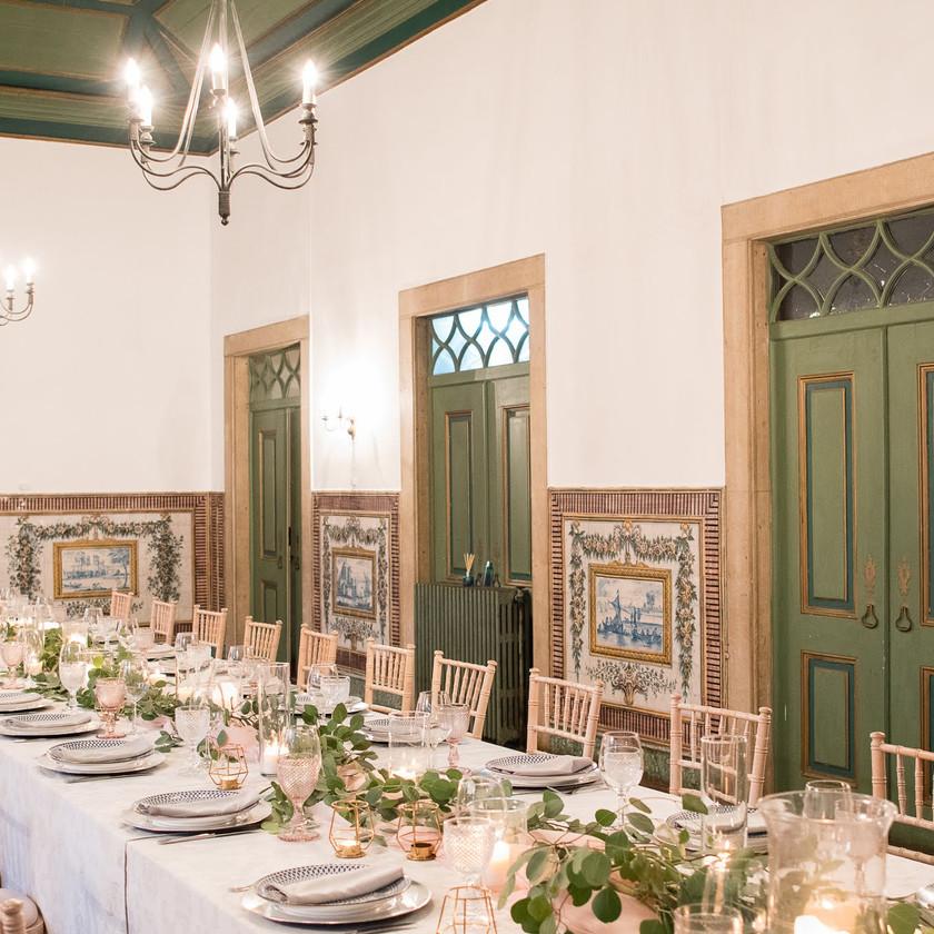 Noble Room Wedding Reception at Quinta do Torneiro Portugal