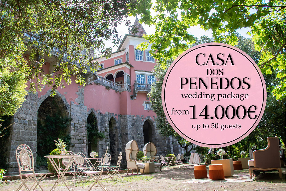 A castle wedding package for a fairytale wedding at Casa dos Penedos Sintra