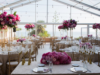 Portugal Wedding Venue with Beachfront Marquee Tent