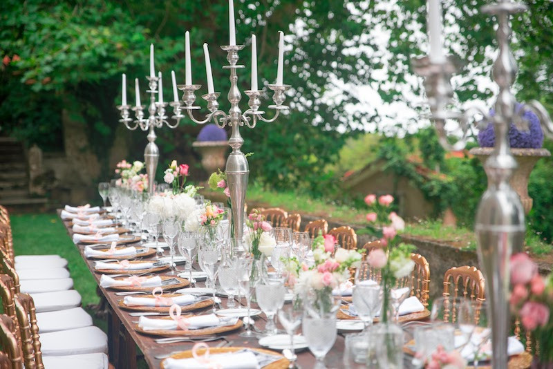 Alfresco Long Wedding Table Portugal The Quinta