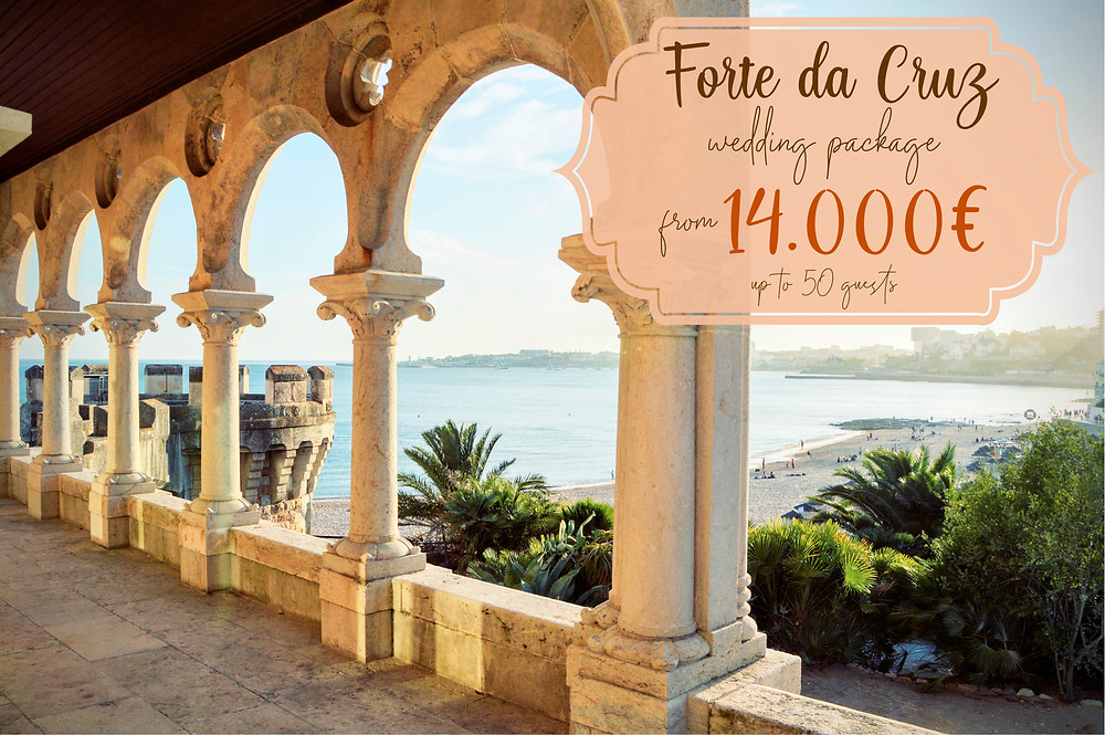 B Lisbon Wedding Planner offers you Forte Da Cruz wedding package from 14,000€. Up to 50 guests.