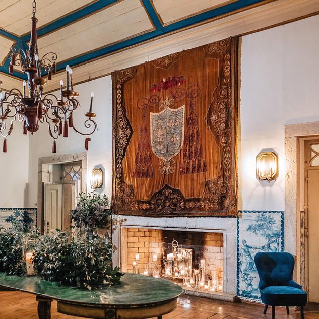 Sala do Brasão na Quinta do Torneiro em Portugal