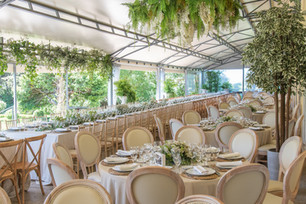 The Greenhose used for a perfect dinner set-up at the destination wedding inPortugal.