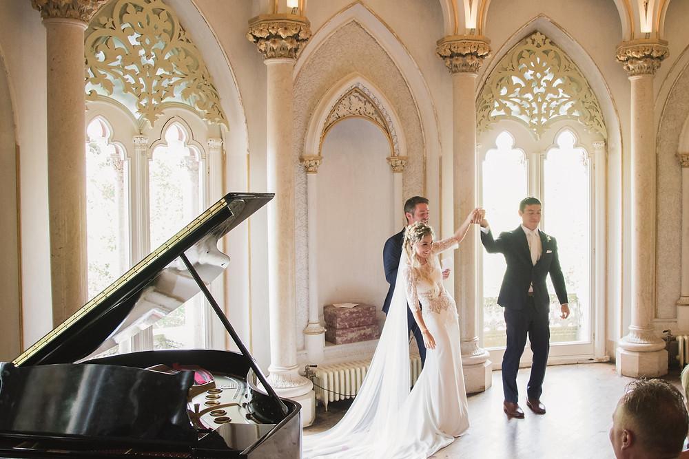 Piano Room Wedding Ceremony Portugal