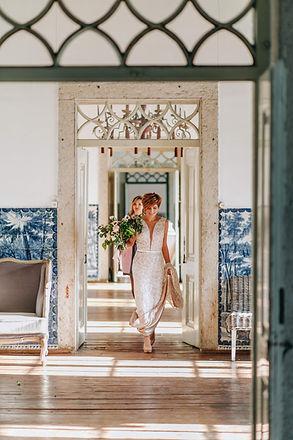Quinta do Torneiro Destination Wedding in Portugal. Photos taken in the hallway of the Quinta do Torneio.