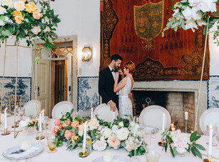 Classical wedding table for your destination wedding in Portugal - Quinta do Torneiro - Lisbon