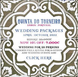 Quinta do Torneiro Wedding Package - Apr