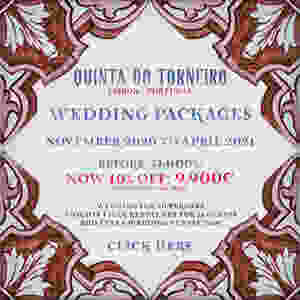 A easy and on a budget wedding package from november to april at Quinta do Torneiro Portugal